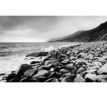 Black and White Beach Photographic Print