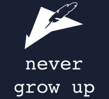 never grow up  Kids Tee