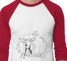 rebirth & love  BW Men's Baseball ¾ T-Shirt