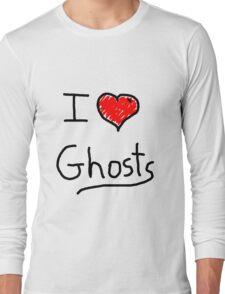 i love halloween ghosts Long Sleeve T-Shirt