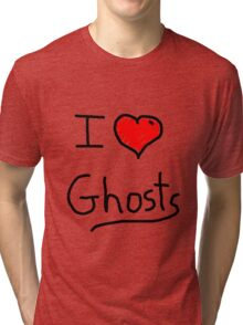 i love halloween ghosts Tri-blend T-Shirt
