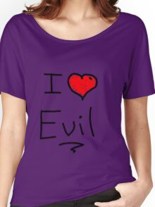 i love halloween evil Women's Relaxed Fit T-Shirt