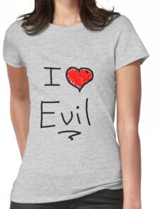 i love halloween evil Womens Fitted T-Shirt