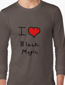 i love halloween black magic  Long Sleeve T-Shirt