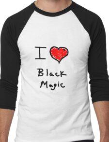 i love halloween black magic  Men's Baseball ¾ T-Shirt