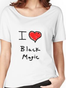 i love halloween black magic  Women's Relaxed Fit T-Shirt