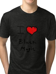 i love halloween black magic  Tri-blend T-Shirt