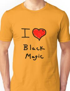 i love halloween black magic  Unisex T-Shirt