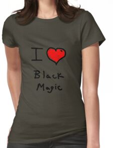 i love halloween black magic  Womens Fitted T-Shirt
