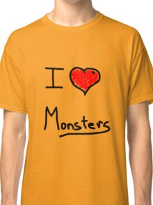 i love halloween monsters Classic T-Shirt