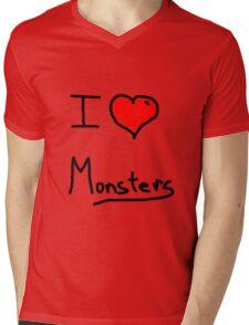 i love halloween monsters Mens V-Neck T-Shirt