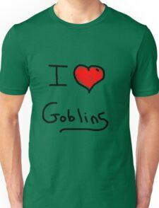 i love goblins halloween Unisex T-Shirt