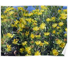 Flowers, Yellow Poster