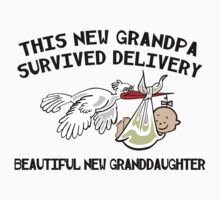 """New Grandpa """"This New Grandpa Survived Delivery .. New Granddaughter"""" by FamilyT-Shirts"""