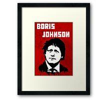 Boris Johnson / Che Guevara Black Hair Framed Print