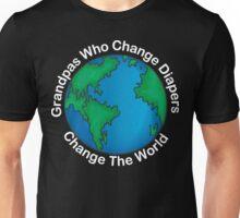 """New Grandpa """"Grandpas Who Change Diapers Change The World"""" Dark Unisex T-Shirt"""