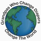 """New Grandpa """"Grandpas Who Change Diapers Change The World"""" by FamilyT-Shirts"""