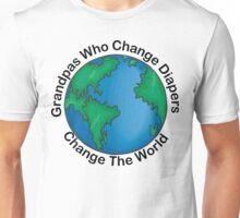 "New Grandpa ""Grandpas Who Change Diapers Change The World"" Unisex T-Shirt"