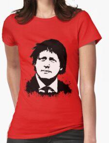 Boris Johnson / Che Guevara Black Hair Womens Fitted T-Shirt