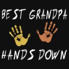 "Grandpa ""Best Grandpa Hands Down""  by FamilyT-Shirts"