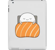 sleepy sushi bed iPad Case/Skin