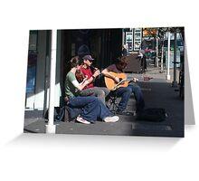 Belfast Street Musicians Greeting Card