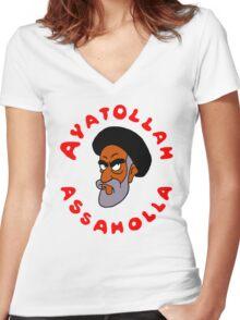 aya ass Women's Fitted V-Neck T-Shirt