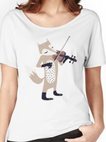 FOXY VIOLINIST Women's Relaxed Fit T-Shirt