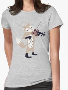 FOXY VIOLINIST Womens Fitted T-Shirt