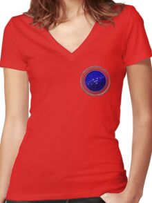 United Federation of Planets Women's Fitted V-Neck T-Shirt