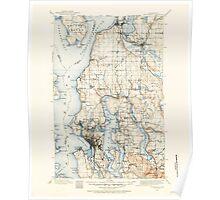 USGS Topo Map Washington State WA Snohomish 243811 1895 125000 Poster