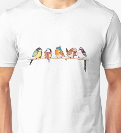 Winter Birdies Unisex T-Shirt
