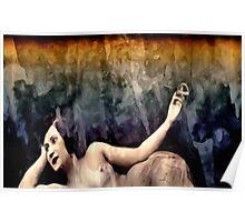 woman smoking a cigarette Poster