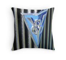 Ford V8 Badge Throw Pillow
