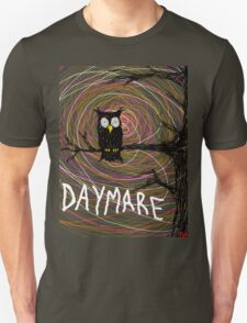 Daymare - Spooky creepy Halloween owl on branch spiral art tia knight  T-Shirt