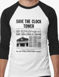 BTTF SAVE THE CLOCK TOWER Men's Baseball ¾ T-Shirt