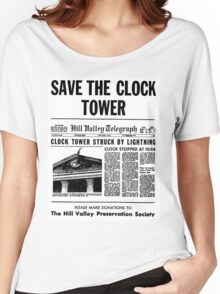 BTTF SAVE THE CLOCK TOWER Women's Relaxed Fit T-Shirt