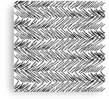 Modern Black & White Hand Drawn Scribble Zigzag Canvas Print