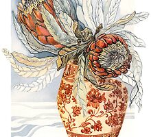 Protea by Carol McLean-Carr