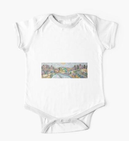 Once  upon a time there was a village on a hill One Piece - Short Sleeve
