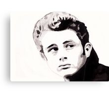 James Dean - Portrait in India Ink by Guy Hoffman Canvas Print