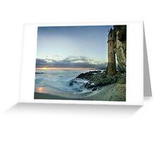 Victoria Beach Lighthouse Sunset Greeting Card
