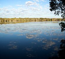 Lake Ainsworth Reflecting the Sky by Karen Eaton