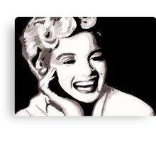 Marilyn Monroe - Portrait in India Ink by Guy Hoffman Canvas Print