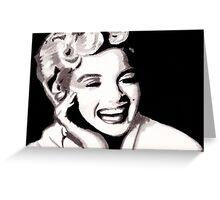 Marilyn Monroe - Portrait in India Ink by Guy Hoffman Greeting Card