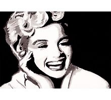 Marilyn Monroe - Portrait in India Ink by Guy Hoffman Photographic Print
