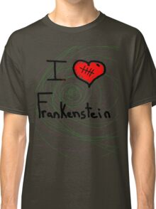 i love Frankenstein halloween   Classic T-Shirt