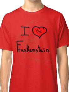 i love Frankenstein halloween   Classic T-Shirt