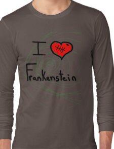 i love Frankenstein halloween   Long Sleeve T-Shirt