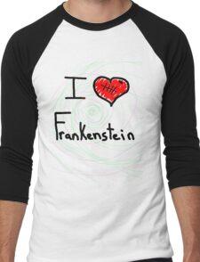 i love Frankenstein halloween   Men's Baseball ¾ T-Shirt